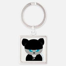 ninja cat(2)b Square Keychain
