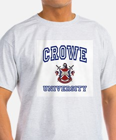 CROWE University Ash Grey T-Shirt