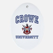 CROWE University Oval Ornament