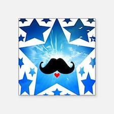 Speak LOVE out loud moustache 1 Sticker