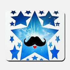 Speak LOVE out loud moustache 1 Mousepad