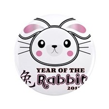 "Year of Rabbit 2011 3.5"" Button"
