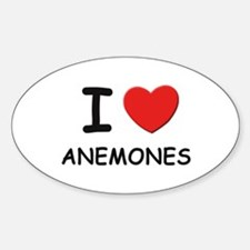 I love anemones Oval Decal