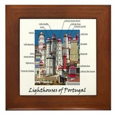 Lighthouses Of Portugal Framed Tile