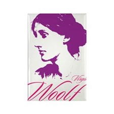 Virginia Woolf Rectangle Magnet