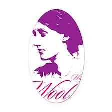 Virginia Woolf Oval Car Magnet