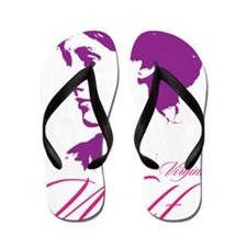 Virginia Woolf Flip Flops