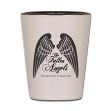 Fallen Angels logo Shot Glass