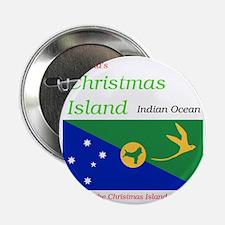 """Christmas_Island1 2.25"""" Button"""