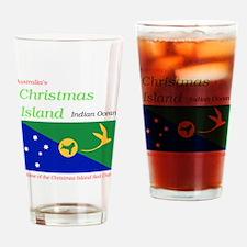 Christmas_Island1 Drinking Glass