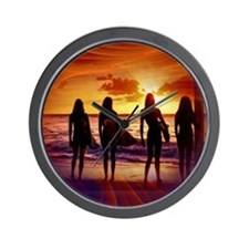 Surfer Babes Wall Clock