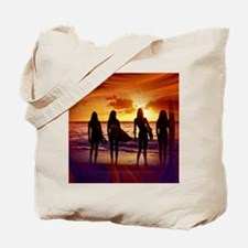 Surfer Babes Tote Bag