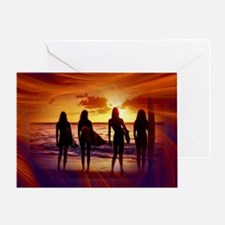 Surfer Babes Greeting Card