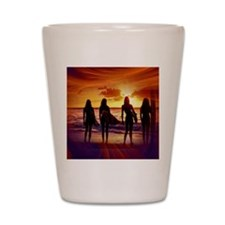 Surfer Babes Shot Glass