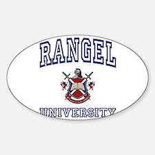 RANGEL University Oval Decal
