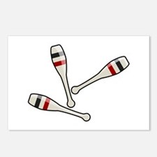 Juggling Clubs Postcards (Package of 8)