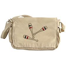 Juggling Clubs Messenger Bag