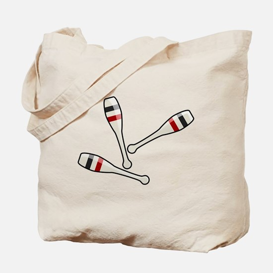 Juggling Clubs Tote Bag