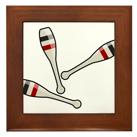 Juggling Clubs Framed Tile
