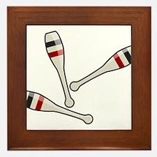 Juggling Clubs Framed Tile