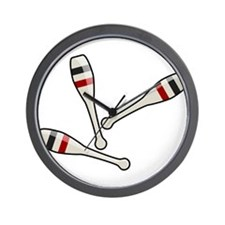 Juggling Clubs Wall Clock