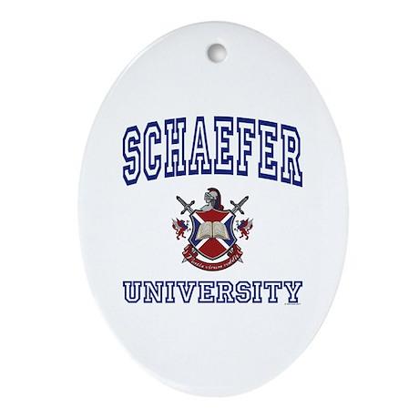 SCHAEFER University Oval Ornament