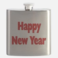 Red Happy New Year Flask
