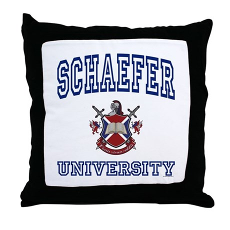 SCHAEFER University Throw Pillow