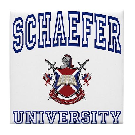 SCHAEFER University Tile Coaster