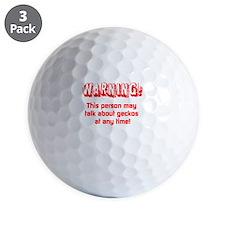 Cute Warning Golf Ball