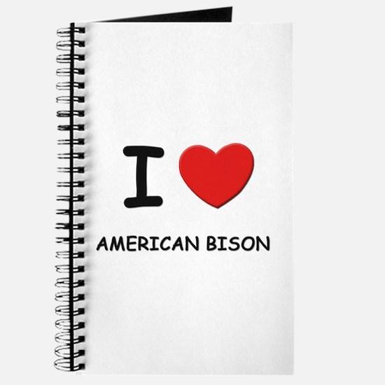 I love american bison Journal