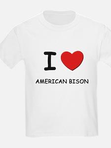 I love american bison Kids T-Shirt