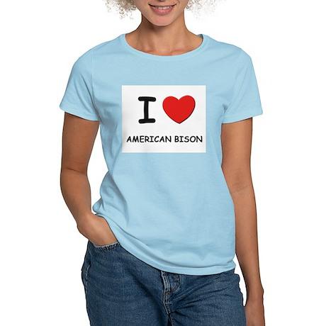 I love american bison Women's Pink T-Shirt