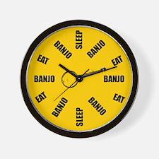 Eat Sleep Banjo Wall Clock