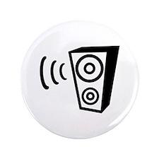 "Speaker beat music 3.5"" Button (100 pack)"