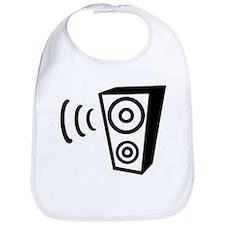 Speaker beat music Bib