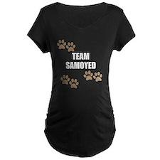 Team Samoyed Maternity T-Shirt