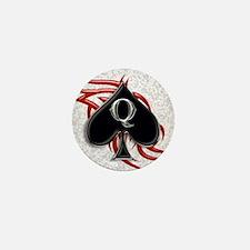 Queen of spade tribal Mini Button