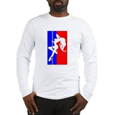 Red White & Blue Pole Dancer Long Sleeve T-Shirt
