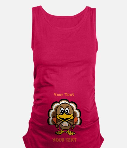 Personalize Little Gobbler Maternity Tank Top