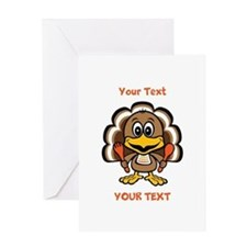 Personalize Little Gobbler Greeting Card
