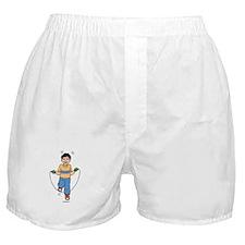 Boy Skipping Rope Boxer Shorts
