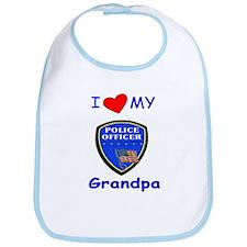 I Love My Police Grandpa Bib