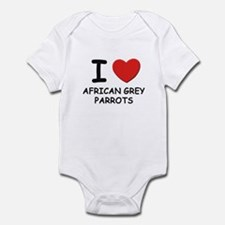 I love african grey parrots Infant Bodysuit