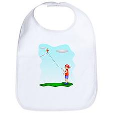 Kid Flying Kite Bib