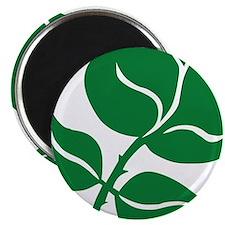 WILD Leaf green vector BIG2 Magnet
