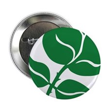 "WILD Leaf green vector BIG2 2.25"" Button"