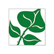 "WILD Leaf green vector BIG2 Square Sticker 3"" x 3"""
