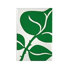 WILD Leaf green vector BIG2 Rectangle Magnet