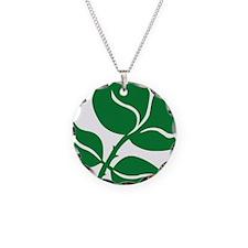 WILD Leaf green vector BIG2 Necklace